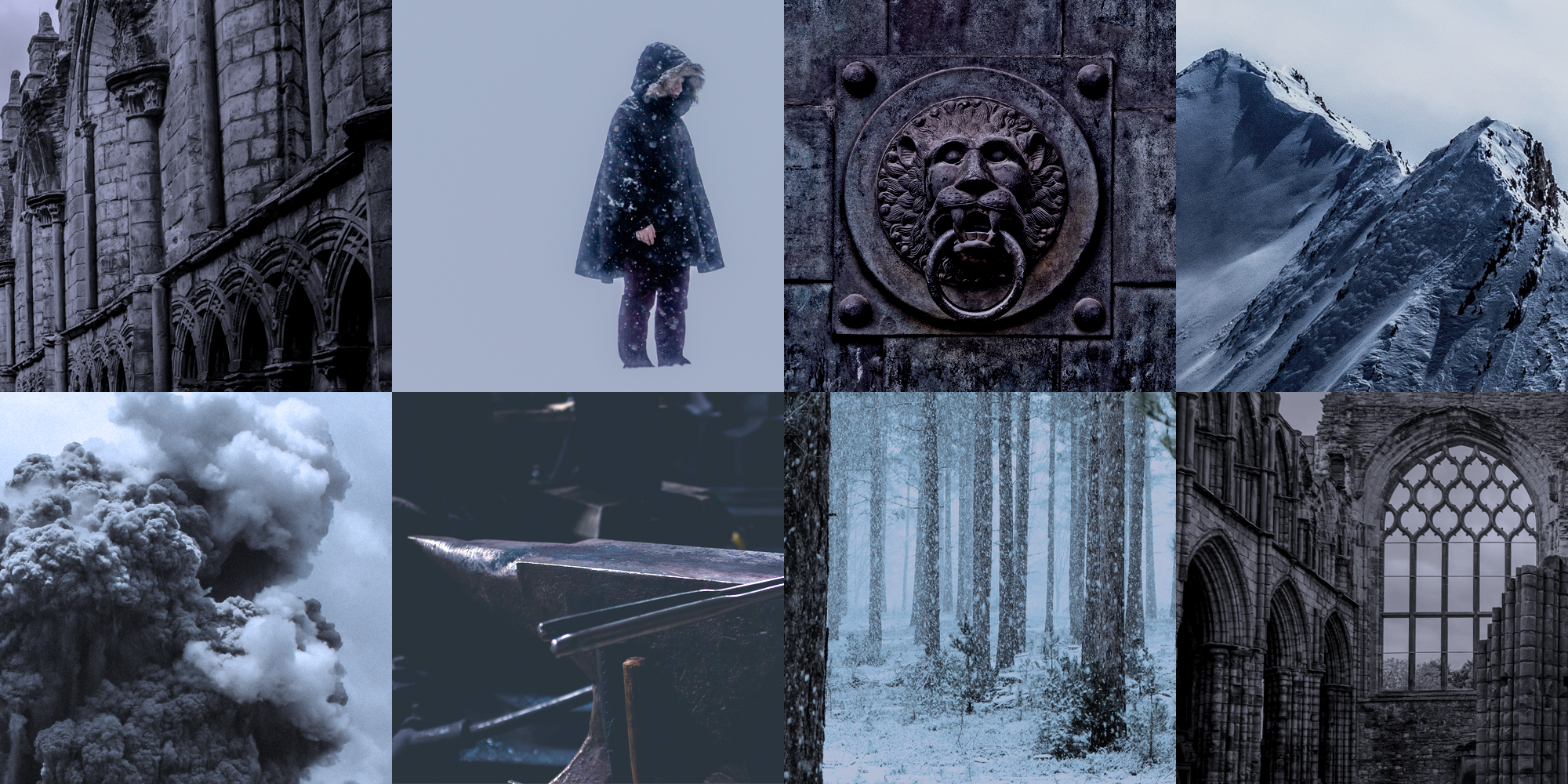 Aesthetic Board for my WIP The Wolves of the Far North