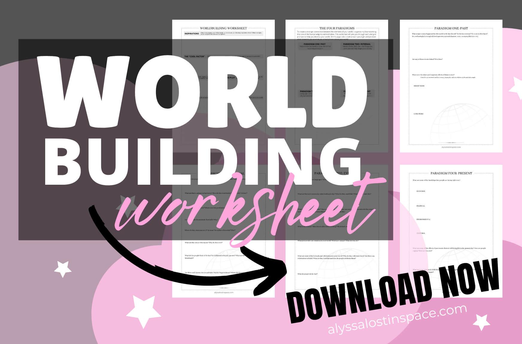 download worldbuilding worksheet