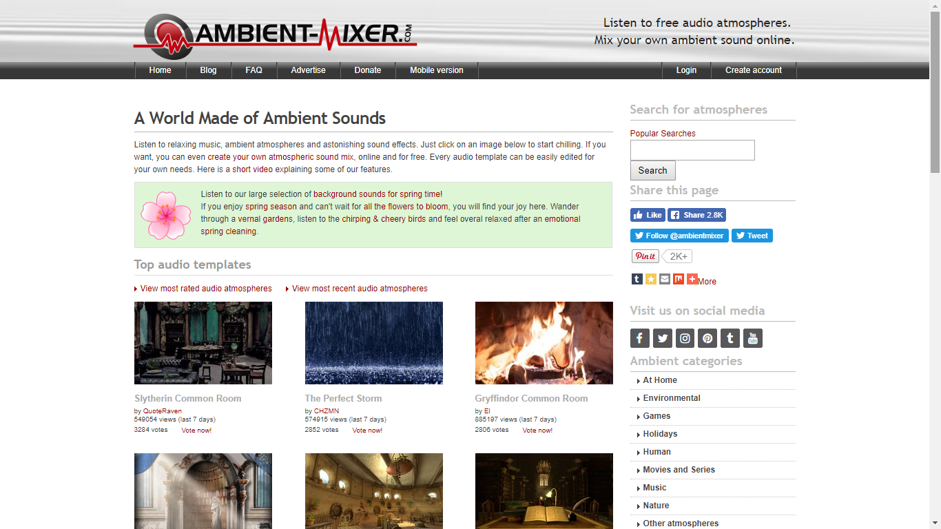 ambient mixer sound worldbuilding resource