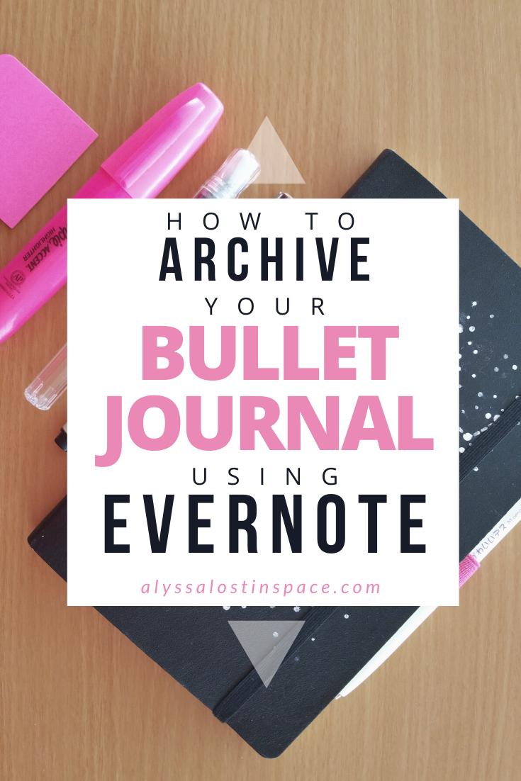 how to archive your bullet journal using evernote