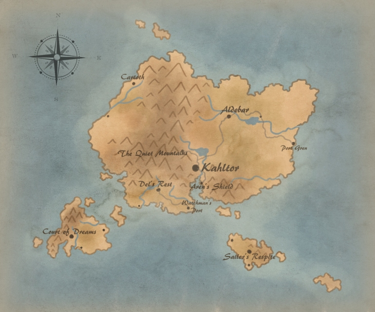 The final product of my how to make a map tutorial guide