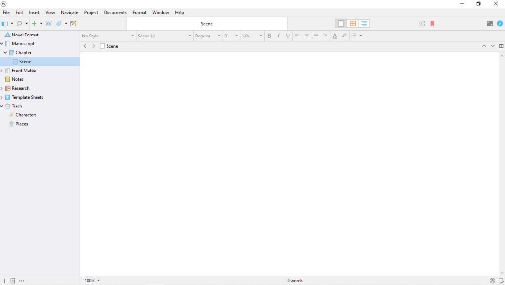 Scrivener 3 UI